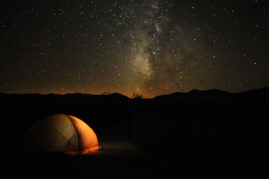 Roadside camping in Death Valley, California